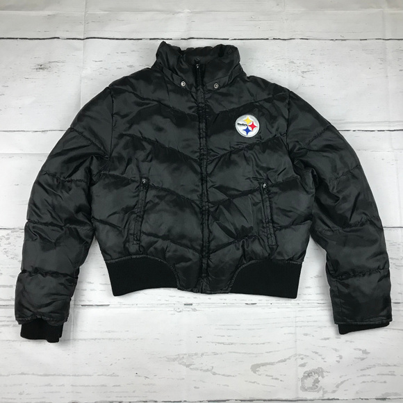 NFL Jackets & Blazers - NFL for Her Pittsburgh Steelers puffer coat *as is
